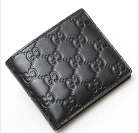 2013 new men's black leather wallet and boxes