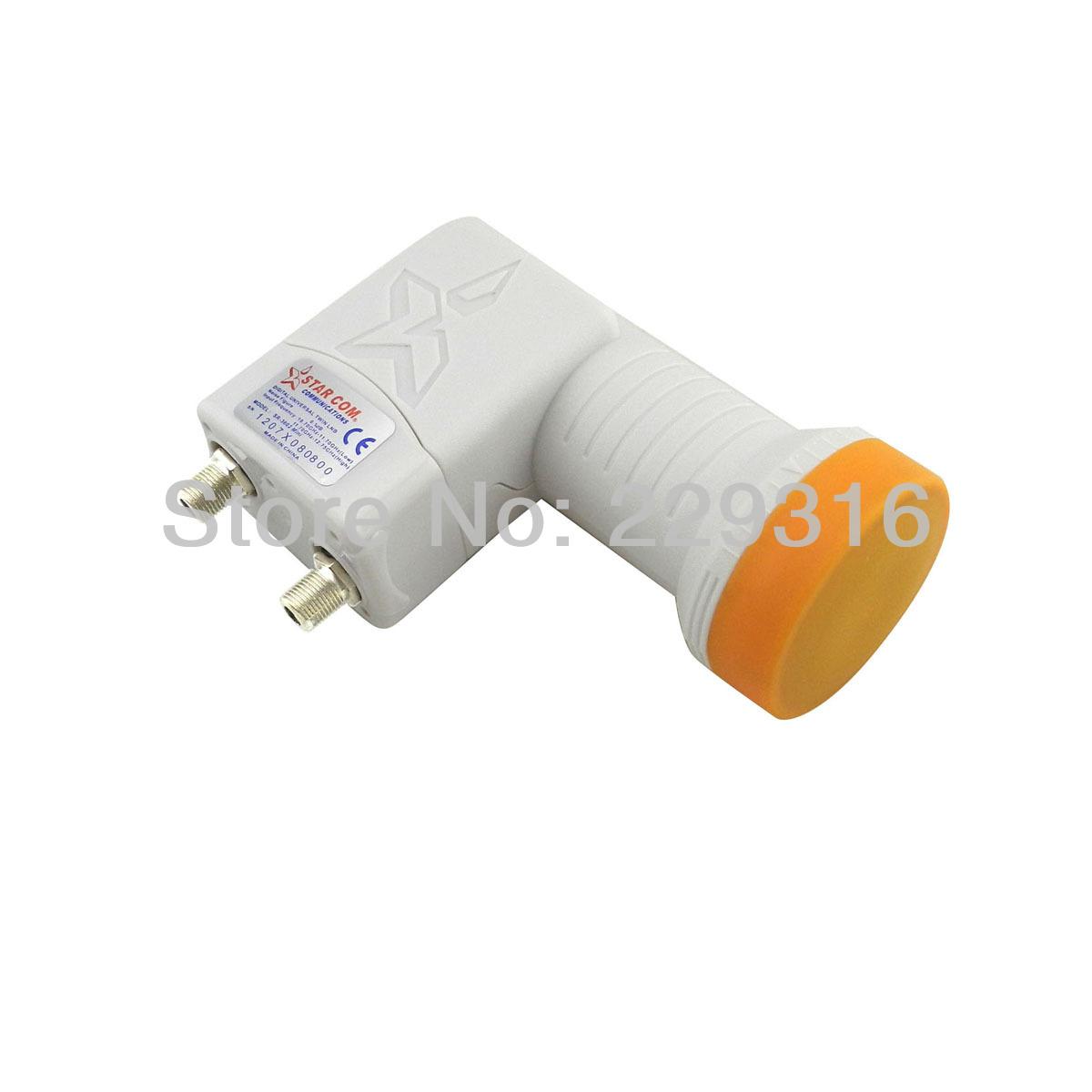 5pcs/ lot, digital ku-band quad LNB/lnbf Universal Ku band Quad LNBF 2 output free shiping(China (Mainland))