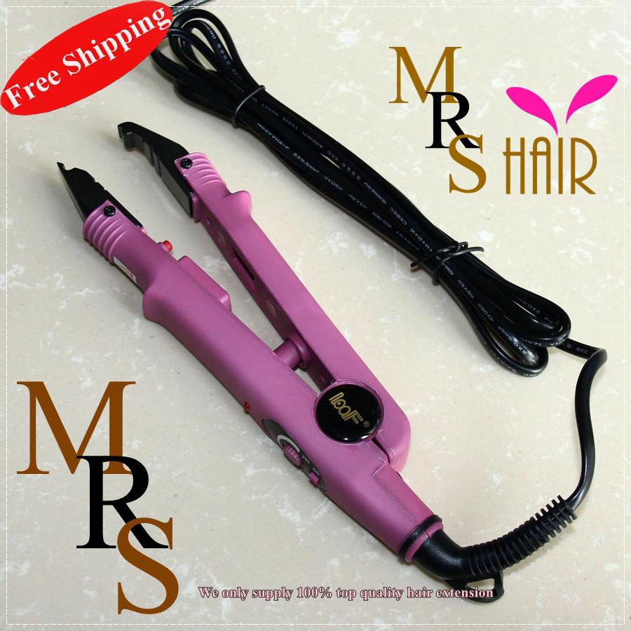 Hair Extension Iron Pink Color Keratin Nail Tip Fusion Hair Connector ...