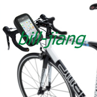 Bicycle Handlebar Mount Holder Waterproof / Sand-proof / Snow-proof / Dirt-proof Zipper Touch Bag for iphone 4 4s