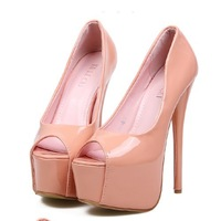 2014 fashion daffodile women heels sexy open toe thin heels party shoes for women pumps red bottoms wedding shoes