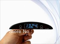 NEW Car Blue LED Digital Sound&Light Battery Voltage Meter Monitor Alarm 12V