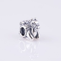European New Camel Genuine 925 Sterling Silver Thread Screw Charm Bead, Suitable for Pandora Bracelet Jewelry DIY Making LW320
