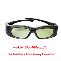 free singapore post 2pc/lot neutral brand rf/bluetooth 3d glasses active work for lg 60pm690s-zd_7b 3d tv like ag-s350 model