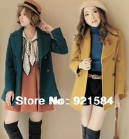 new winter woolen coat Women's jackets/Wool & Blends Ladies' double breasted coat good quality/topcoat outercoat wOS