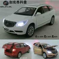 Kids Toys Car Classic Vintage Alloy Car Model Wholesale Free Shipping 1:32 Buick Enclave 4 open door Pull back Acousto Optic