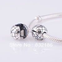 New Arrival Christmas Global 925 Sterling Silver Lock Clip Charm Bead, DIY Jewelry Fits for Pandora Bracelet DIY KT076-N