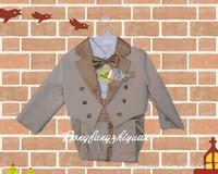 New  Hot Baby Clothing set tuxedo Baby formal dress suit baby boy birthday dress 5 pcs/Set (size 7-24 Month)