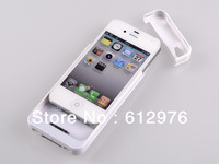2300mAh External Battery Backup Power Charger Case for iPhone 4 4S, Free shipping (1pcs)
