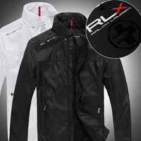 RLX Ultra-thin jacket male men's clothing sport jacket for men the jacket Black and white coat