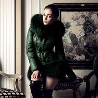 Large fur collar medium-long slim fur coat down female elegant personalized y016 paragraph