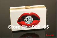 Free Shipping 8 Colors 2013 Newest Poker Style Women Bags Brand Design Clutch Handbags Acrylic Fashion Lady Clutch Bag