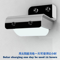 Energy-saving products Solar Power Sound Sensor LED Detector Outdoor Security Light Wall Park lamp\Corridor lights