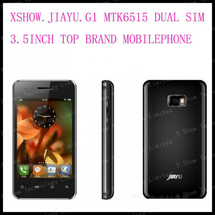 "JIAYU G1 Dual Sim Android MT6515 3.5""HVGA Unlocked Mobile Phone Freeshipping cn POST(China (Mainland))"