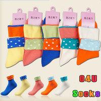 New Autumn-Summer Socks Women Casual Revers Sock Harajuku Cute Female Floor Socks for Women Wholesale 5pair/lot Free Shipping 51