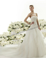 White Vintage Lace Floor Length Court Train Tulle Wedding Dress Wedding Gown vestidos de novia 2014