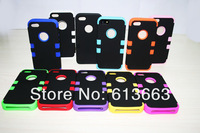 100PCS For Apple iPhone 5G 5S Robot PC + Silicone Hybrid Combo Shockproof Dirtyproof Case Cover,Free Shipping