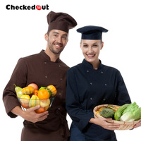 2014 NEW fashion cook suit long-sleeve cook suit work wear
