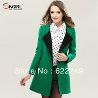 Skgirl 2013 winter new arrival woolen outerwear female slim wool coat medium-long woolen overcoat for women