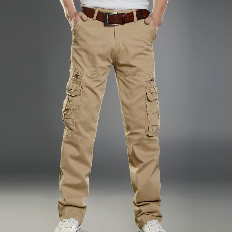 Baggy Khaki Cargo Pants For Men Men Cargo Pants Multi Pockets
