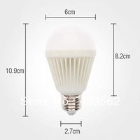 E27 7W 490-500LM Light LED Ball Bulb (110-240V)LED Ball Bulb with graphite,Ex-works in aliexpress