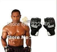 2014 Leather Half Finger Fight Boxing Gloves Mitts Sanda Karate Sandbag Taekwondo Protector For Boxeo Mma Muay Thai Kick Boxing