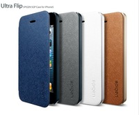 DHL free shipping high quality flip cover SGP Spigen PC+PU leather cover for iphone 5 5S with retail package 50 pcs/lot