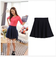 Women High Waist Sexy Short Plain Flared Pleated Sheer Skater Fippy Mini Skirts