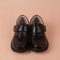 free shipping boys leather shoes 2013 spring and autumn casual black primary school students child formal dress shoes  for kids