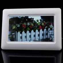 """Scolour nueva llegada 7 """" TFT LCD Digital Photo Frame reloj de alarma de la ayuda U del SD MMC MS USB Blanco Envío Gratis(China (Mainland))"""
