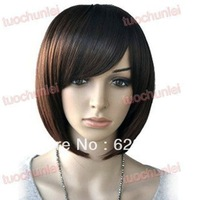 Natural Kanekalon Fiber Hair BoB Wig Women Short Fashion Straight Cosplay Wigs