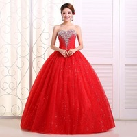 The bride wedding dress formal dress bandage lacing wedding dress red wmz formal dress red wedding dress