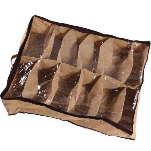 1pcs Free Shipping Fabric Dustproof Shoes Organizer Case Storage Bag Box Holder For 12 Pairs Shoes(China (Mainland))