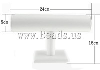 Free shipping!!!Leather Bracelet Display,Brand jewelry, Rack, white, 150x240x50mm, 5PCs/Lot, Sold By Lot