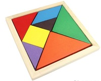 Wooden tangram wool puzzle toy 2 - 3 - 7