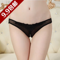 9.9 pearl lace open file thong panty temptation transparent sexy t