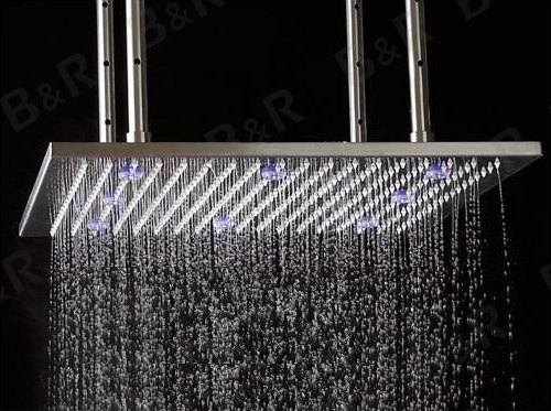 FREE SHIPPING 20 Inch LED Head Shower Automatic Control Sprinkler Top Shower WT-2086(China (Mainland))