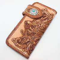 wallet men genuine leather desigual wallet magic wallet waterproof colorful leather A woman's purse veg tanned061