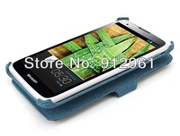 SH530U Heat-setting Folio Leather Case Cover Pouch For Sharp SH530U Flip Case + Screen Protector