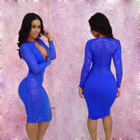 Free shipping Ds costume sexy lace collar sexy women lace 2013 dress