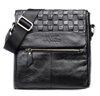 Big promotion first layer of leather men Messenger bag, shoulder bag retro fashion ipad laptop bag wholesale, free shipping