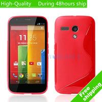 High Quality S line Soft TPU Gel Skin Cover Case For Motorola Google Moto G Free Shipping UPS EMS DHL HKPAM CPAM