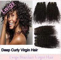 Free shipping 2pcs Brazilian deep wave curly virgin hair,unprocessed curly cheap hair,100% Brazilian human hair extensions