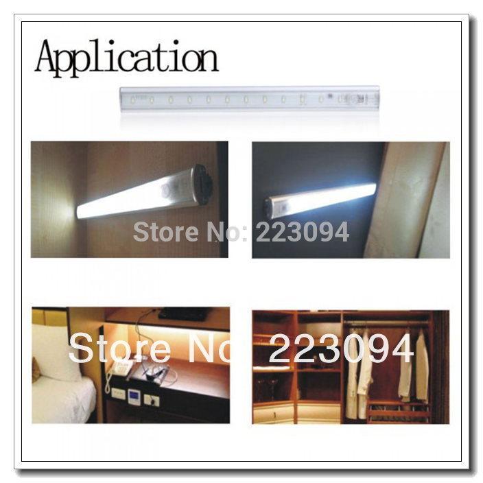 High quality LED Under Cabinet Light PIR Motion Sensor Lamp Kitchen Wardrobe Cupboard Closet 30cm Dropshipping(China (Mainland))