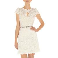 Fashion high quality women's ladies elegant white lace short-sleeve dress plus size dress