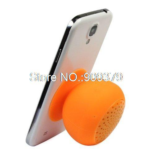 Orange Portable Silicone Waterproof Holder Mini Mushroom Bluetooth Wireless Speaker(Hong Kong)