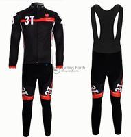 2013 NEW!!! Castelli team long sleeve autumn bib cycling wear clothes bicycle bike riding cycling jerseys bib pants set
