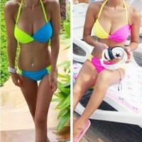 2 Color VS New Push Up Padded Sexy Swimwear Swimsuit Bikini Bathing Suit M-XXL
