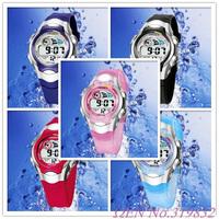 OHSEN Kids Soft Rubber Strap Digital Alarm Quartz Child Boy Sport Watch 0520 Available Colors
