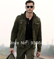free shipping pilot jacket casual outdoor outerwear top army man jacket solder jacket 100%cotton